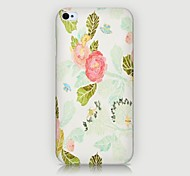 Common Peony Pattern Back Case for iPhone4/4S