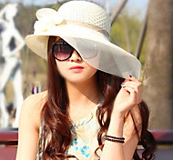 Women Vintage/Cute/Casual Sun Block Mesh/Straw Floppy Hat