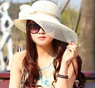 Women Vintage/Cute/Casual Sun Block Mesh/Straw Floppy Hat