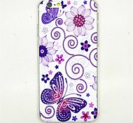 Butterfly Pattern Soft TPU Case for iPhone 6