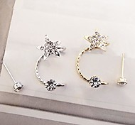 Fashion Sweet Rhinestones Star Clip Earrings Earrings