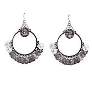 Fashion Women  Coin Drop Earrings