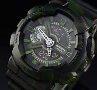 Men's Sport Watch Japanese Quartz Analog-Digital LCD/Army Camouflage Style Military Electronic Watch/Water Resistant