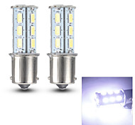 Merdia 1156 0.8W 125LM 18x5630SMD LED White Light for Car Turn Signal Light /Reading Light(Pair/ 12V)