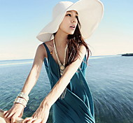 Women Summer Folding Shade Beach Straw Floppy Hat