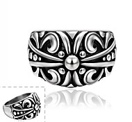 Maya Fashion Individual Jewelry Rattan Stainless Steel Man Ring(Black)(1Pcs)