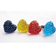 Lovely Heart Anti-dust Earphone Jack for iPhone/iPad and Others(Random Color)
