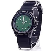 ORKINA W012 Stylish Men's Canvas Band Quartz Wrist Watch with Simple Calendar (1 x LR626)
