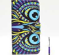 Beautiful Owl Pattern PU Leather Case Cover with A Touch Pen ,Stand and Card Holder for iPhone 6 Plus