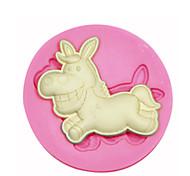 figura animale stampo in silicone stampo in silicone asino decorazione di una torta per i gioielli fondente caramelle artigianali argilla