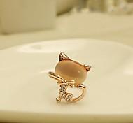 European Style Cute Little Cat Adjustable Ring
