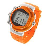 Stylish Digital Sports Heart Rate Monitor Wrist Watch  (Orange)