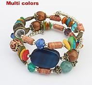 Women's Ethnic Layers Beads Long Wrist Chain Bracelets