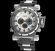 Men's Big Size Steel Case Military Watch Japanese Quartz Analog-Digital Calendar/Chronograph/Water Resistant/Alarm Cool Watch Unique Watch