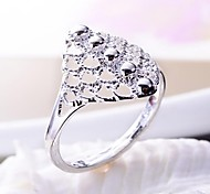 Hot Plated 925 Sterling Silver Hollow out RingS Size7-8(5 PCS/lot)