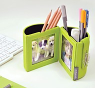 Colorful/Business PU Leather Pen Holders with Photo Frames