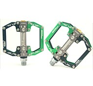 Cycling Aluminium Alloy Convenient Solid Green and Black Pedals