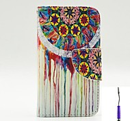 The Dream-Seeker Pattern PU Leather Case Cover with A Touch Pen ,Stand and Card Holder for iPhone 4/4S