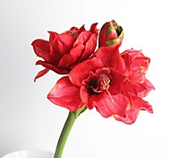 "31.5"" Artificial Silk Hippeastrum Rutilum for Home Decor (More Colors)"