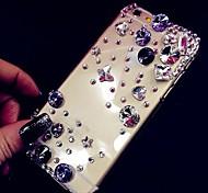 iPhone 4/4S/iPhone 4 - Hüllen mit Schmuckverzierung - Diamantenlook/Diamant / Strass verziert Gehäuse ABS )