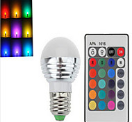 1 pcs E27 5 W 3 X SMD 80 LM 2800-3500/6000-6500 K Color-Changing Dimmable/Remote-Controlled Globe Bulbs AC 220-240 V