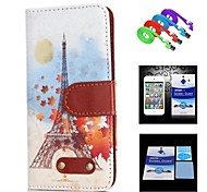 Cartoon Iron Tower Pattern Full Body Case+1 HD Screen Protector+1 USB Data Transmit and Charging Cable for iPhone 6
