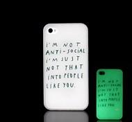 iPhone 4/4S - Cover-Rückseite - Grafisches Design/Spezielles Design/im Dunkeln leuchtend Kunststoff )