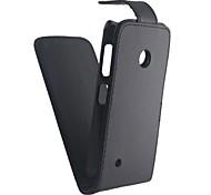 Для Кейс для Nokia Флип / Матовое Кейс для Чехол Кейс для Один цвет Твердый Искусственная кожа Nokia Nokia Lumia 530