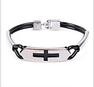 Tina -- European and American Fashion Alloy Accessory Leather Bracelet in Party