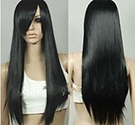 Top Quality Super Long Straight Black 1B Color Woman's Fashion Synthetic Hair WIgs