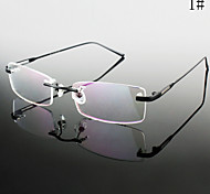 [Free Lenses] Titanium Rectangle Rimless Lightweight Prescription Eyeglasses
