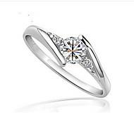 Paar Ringe Kubikzirkonia Silber Silber