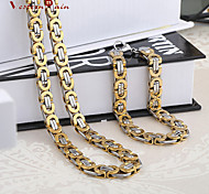 WesternRain Top Quality Dubai Style Vintage Stainless Steel Jewelry/ Men's Bracelets&Necklace Man's Jewelry Sets
