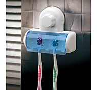Magic Sucking Disc Five Toothbrush Holder(Random Color)