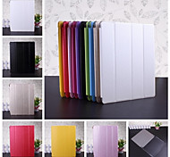 Wkae® Solid Color Silk Print PU Leather and Plastic Back Case for iPad2/3/4(Assorted Colors)