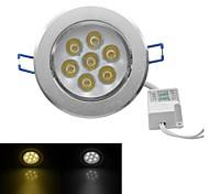 jiawen® 7w 630-700lm 3000-3200k / 6000-6500k chaude lumière blanche / blanc led receseed (AC 100-240V)