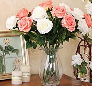 juego de 2 natural de simulación de las rosas del estilo