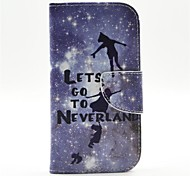 Peter Pan Pattern PU Leather Full Body Case with Card Slot and Stand for  Samsung S4 I9500