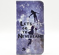 Silver and Children Pattern PU Leather Full Body Case with Stand and Card Holder for iPhone 6 Plus