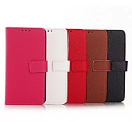 Samsung Handy - Samsung Galaxy A3 - Hüllen mit Ständer - Einfarbig (Schwarz/Weiß/Rot/Braun/Rosé , PU Leder)