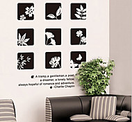Chinese Style Flower PVC Wall Sticker