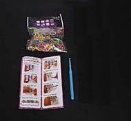baoguang®fashion telaio set (600pcs elastici, 1 clip pacchetto, 1 gancio, 1 telai, 1 istruzioni)