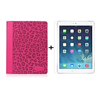 Leopard Grain Dormancy Holster PU Full Body Case with Stand and HD LCD Screen Protector for iPad 2/3/4 (Assorted Color)