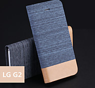 Jeans PU Holder Mobile Phone Case for LG G2(Assorted Colors)