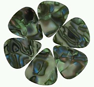 Medium 0.71mm Guitar Picks Plectrums Celluloid Abalone Seashell  100Pcs-Pack