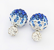 Stud Earrings Rhinestone Alloy Fashion Black Dark Blue Red Blue Jewelry 2pcs