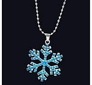 Snow enchanted Alloy Pendant Necklace (Blue,White)(1 Pc)