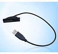 SATA Notebook Built-in CD-ROM to USB Cable 9.5/12.7mm General Black