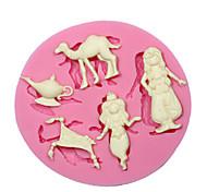 aladdin fiaba stampo in silicone stampo in silicone Cupcake decorazione per i mestieri fondente del cioccolato di monili in resina pmc
