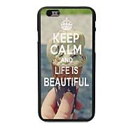 Ruhe bewahren und das Leben ist schönes Design harter Fall für iphone 6